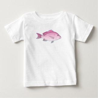 Pescados rosados del filón camiseta de bebé
