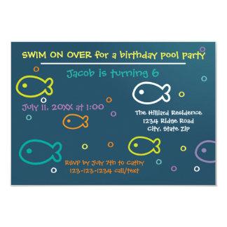 Pescados y burbujas - invitación de la fiesta en