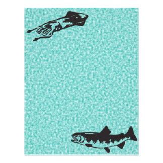 pescados y mariscos folleto 21,6 x 28 cm