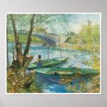 Pescando en la primavera, Pont de Clichy, Van Gogh Posters