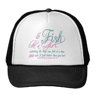 Pesco como artes de pesca del chica gorros bordados