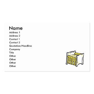 pesebre amarillo tarjetas de visita