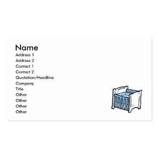 pesebre azul tarjetas de visita