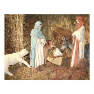 Pesebre del navidad folleto 21,6 x 28 cm