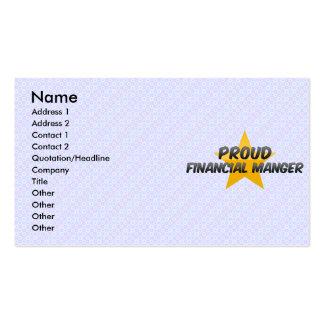 Pesebre financiero orgulloso tarjetas personales