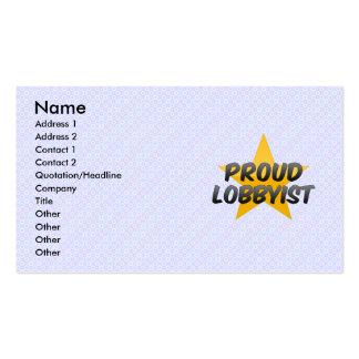 Pesebre financiero orgulloso tarjetas de visita
