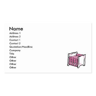 pesebre rosado tarjetas de visita