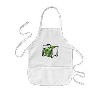pesebre verde delantal infantil