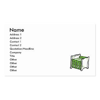 pesebre verde tarjetas de visita