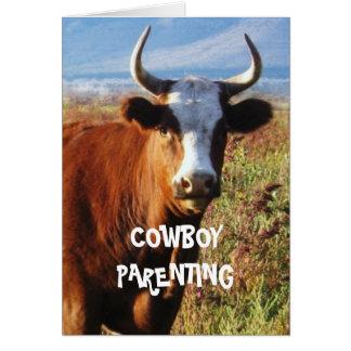 Peso del embarazo - Parenting del vaquero Tarjeta De Felicitación