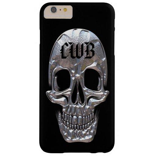 Peso ligero craneal del cráneo del factor del funda de iPhone 6 plus barely there