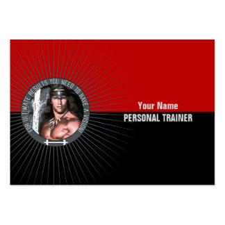 Peso que entrena a II - negocio, tarjeta del horar Tarjetas De Visita