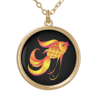 Pesque, símbolo de la riqueza y prosperidad, colgante redondo