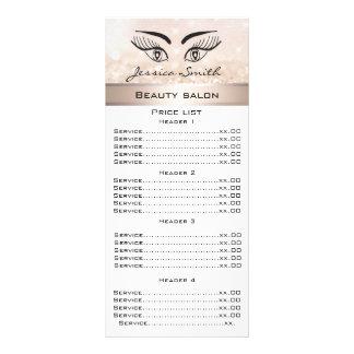 Pestañas elegantes y tarjeta reluciente del menú lonas personalizadas