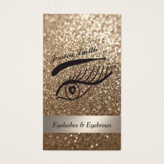 pestañas y ceja relucientes elegantes atractivas tarjeta de negocios
