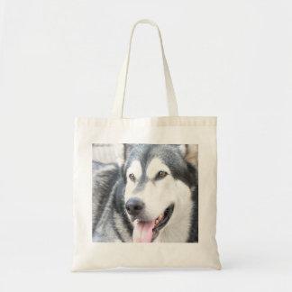 pet dog Alaskan Malamutte Grocery Bag Bolsa Tela Barata