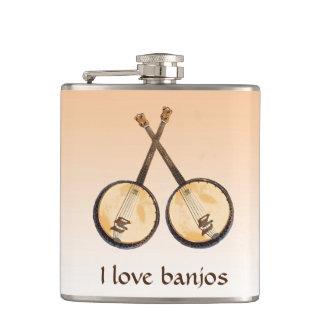 Petaca Amo el frasco de los instrumentos de música del