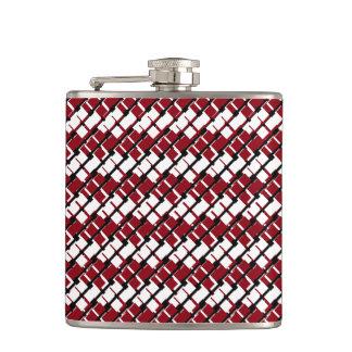 Petaca Argyle rojo y blanco único y fresco diseñó el