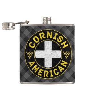 Petaca Bandera americana de Cornualles Hipflask