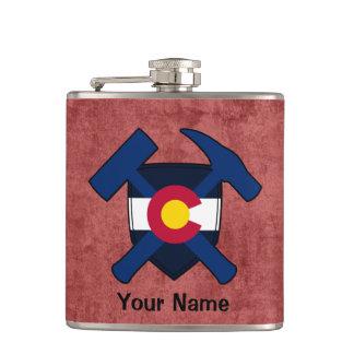 Petaca Bandera de Colorado del escudo del martillo de la