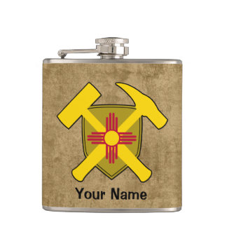 Petaca Bandera de New México del escudo del martillo de