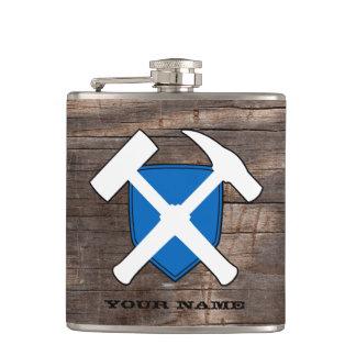 Petaca Bandera del escudo del martillo de la roca del