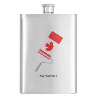 Petaca Bandera del rodillo de pintura de Canadá
