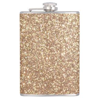 Petaca Brillo metálico del oro color de rosa de cobre