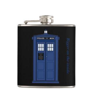 Petaca Caja de policía azul más grande en el frasco