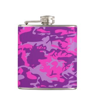 Petaca Camo rosado y púrpura