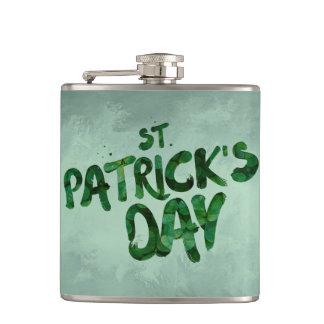 Petaca Celtic irlandés del trébol del verde del día de St