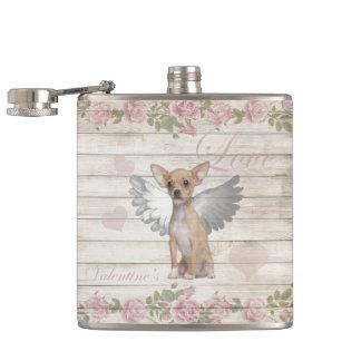 Petaca Chihuahua del vintage - día de San Valentín