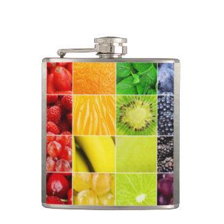Petaca Collage colorido multi de la fruta