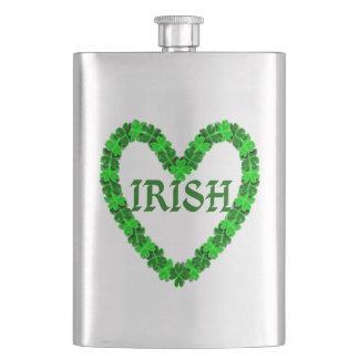 Petaca Corazón irlandés del trébol