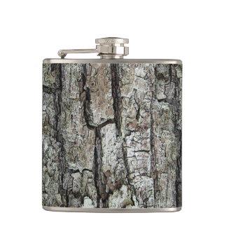 Petaca Corteza vieja del pino de la naturaleza