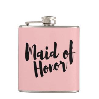 Petaca Criada del frasco del vinilo del boda del honor