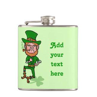 Petaca Día divertido del St Patricks del Leprechaun