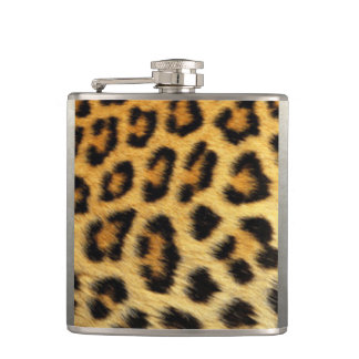 Petaca Diseño de la impresión del modelo del leopardo