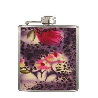 Petaca Diseño púrpura del estampado leopardo de las
