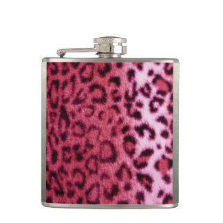 Petaca Diseño rosado del modelo del leopardo