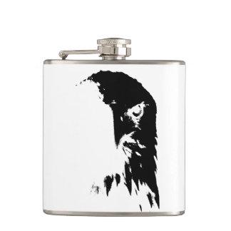 Petaca Eagle calvo negro y blanco