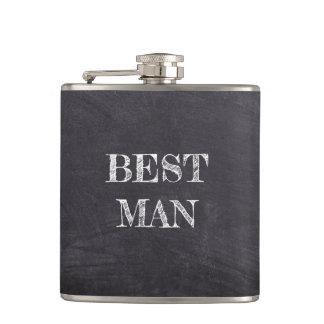 Petaca El mejor hombre que casa el frasco negro del