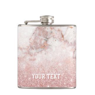 Petaca Falso mármol color de rosa modificado para