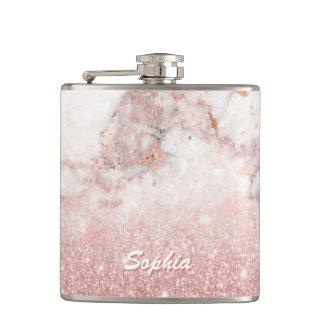 Petaca Falso purpurina color de rosa elegante Ombre de