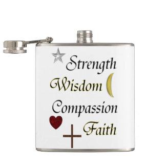 Petaca Fe de la compasión de la sabiduría de la fuerza