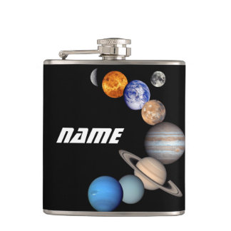 Petaca Fotos del montaje JPL de la Sistema Solar - nombre
