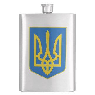 Petaca Frasco amarillo azul de la cadera de la bandera de