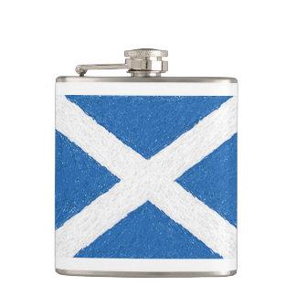 Petaca Frasco cruzado de la bandera de Escocia St Andrew