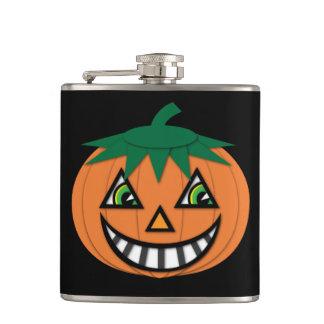 Petaca frasco de la Jack-O-Linterna del vintage de los