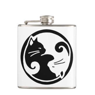 Petaca Frasco de los gatos de Yin Yang